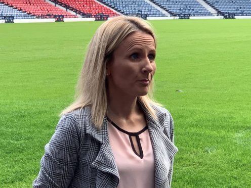 The SFA's Fiona McIntyre is happy to see the Scotland Women's team playing at Hampden (Ronnie Esplin/PA)