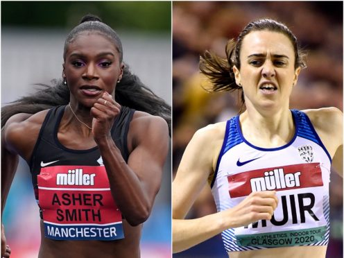 Dina Asher-Smith and Laura Muir (PA)