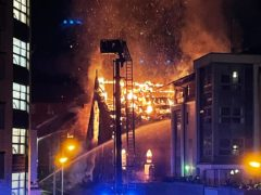 Firefighters have been tackling a blaze at St Simon's Church in Partick, Glasgow (Amy Iona/PA)