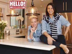Ollie Locke and his husband Gareth (Hello! magazine/PA)