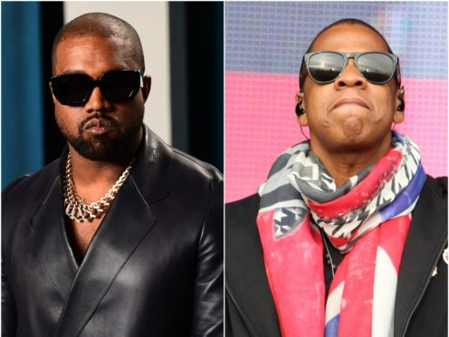 Kanye West revealed Jay-Z features on his latest album as the superstar rapper finally unveiled his new music (Ian West/Andrew Milligan/PA)