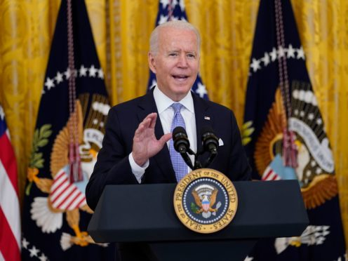 President Joe Biden speaks in the East Room of the White House in Washington (Susan Walsh/AP)