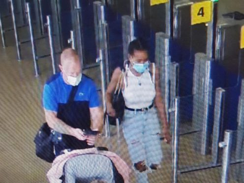 Gracie-May Rogers and her parents Kelly Gibson and Lee Rogers are believed to have boarded a flight to Alicante, Spain (Lancashire Police/PA)