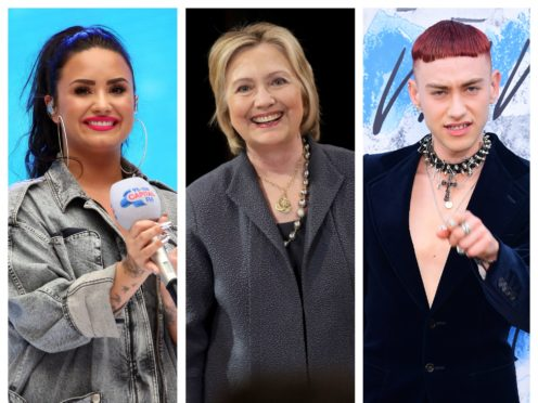 Demi Lovato, Hillary Clinton and Olly Alexander were among the award winners (PA)