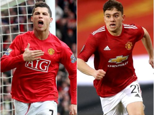 Cristiano Ronaldo and Daniel James are part of the ins and outs at Old Trafford (PA)