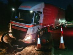 Durham Police said junction 59 of the A1 near Darlington was blocked for hours early on Saturday (Durham Police/PA)