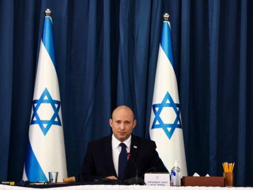Israeli prime minister Naftali Bennett (Ronen Zvulun/AP)