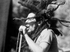 Bob Marley on stage (PA)