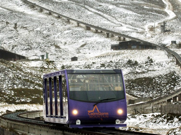 The two-kilometre funicular railway through the Cairngorm ski area will not be open this winter (David Cheskin/PA)