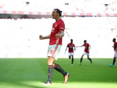 Zlatan Ibrahimovic scored United's winner (Nick Potts/PA)