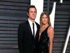 Jennifer Aniston wished ex-husband Justin Theroux a happy 50th birthday by sharing a shirtless snap of the actor (PA)