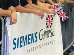 Siemens Gamesa has confirmed plans to more than double the size of its wind turbine blade factory in Hull (Lindsey Parnaby/PA)