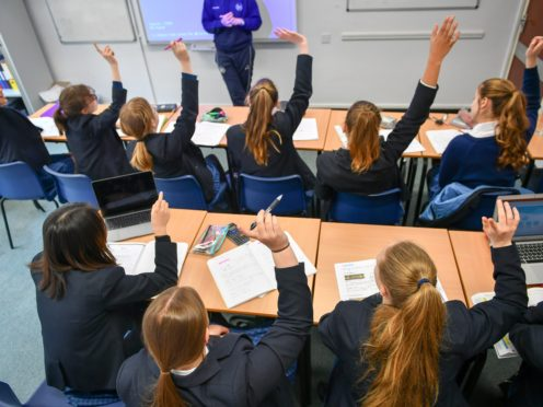 Schools should not have any responsibility for promoting, enforcing or policing vaccination of pupils, a union has said (Ben Birchall/PA)