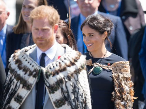 The Duke and Duchess of Sussex during the royal couple's tour of New Zealand (Dominic Lipinski/PA)