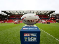 General view of the Betfred super league ball