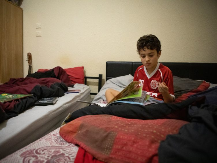 Picture shows 10 year old Will, whose family was made homeless (Shelter Scotland/PA)