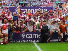St Helens beat Catalans Dragons in the 2007 Challenge Cup final (Anna Gowthorpe/PA)