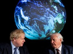 Prime Minister Boris Johnson, left, and Sir David Attenborough at the launch of the Cop26 UN Climate Summit (Chris J Ratcliffe/PA)