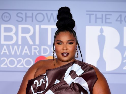 Lizzo was joined by a pregnant Cardi B for the Ancient Greek-inspired Rumours music video (Ian West/PA)