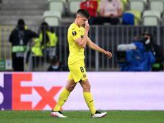 Juan Foyth was sent off late on for Villarreal (Rafal Oleksiewicz/PA)