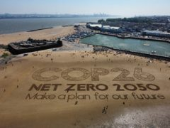 The Government has set out ambitious targets for net-zero ahead of the Cop26 summit in Glasgow (Peter Byrne/PA)