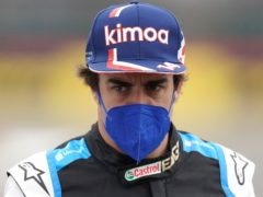 Fernando Alonso has agreed a new one-year deal with Alpine (Tim Goode/PA)