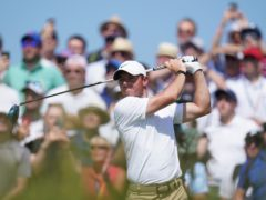 Northern Ireland's Rory McIlroy has a share of the lead (Gareth Fuller/PA)