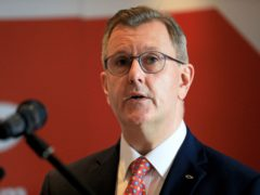 DUP leader Sir Jeffrey Donaldson has said he intends to run in the Stormont Assembly elections in the Lagan Valley constituency (Peter Morrison/PA)