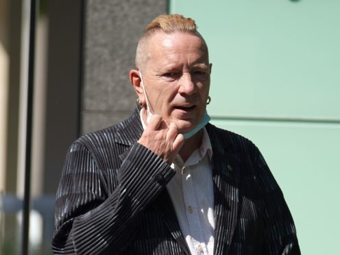 John Lydon, aka Johnny Rotten, arriving at the Rolls Building at the Hight Court (Yui Mok/PA)