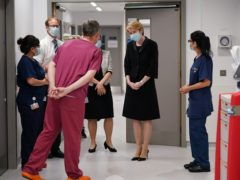 New NHS England boss Amanda Pritchard (in black) has written to staff about the challenges ahead (Yui Mok/PA)