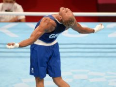 Great Britain's Benjamin Whittaker is involved in a gold medal match in the men's light-heavyweight boxing on Wednesday (PA)