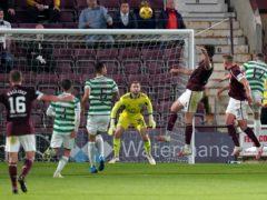 John Souttar headed the winner against Celtic at Tynecastle (Jane Barlow/PA)