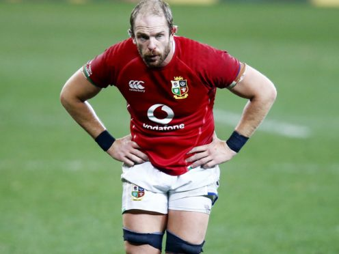 Alun Wyn Jones, centre, has represented the British and Irish Lions across four tours (Steve Haag/PA)