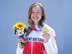 Charlotte Worthington with her gold medal (Mike Egerton/PA)