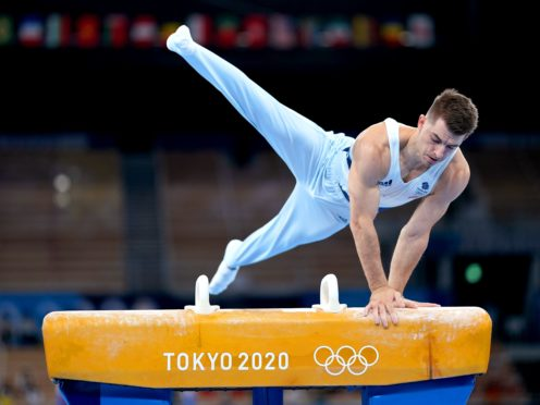 Max Whitlock in pommel horse action in Tokyo (Mike Egerton/PA)