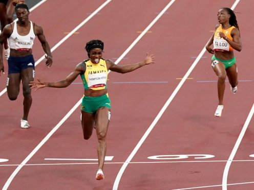 Double gold medallist Elaine Thompson-Herah was banned from Instagram for posting videos of her victories (Martin Rickett/PA)