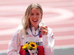 Great Britain's Keely Hodgkinson won 800m silver. (Martin Rickett/PA)