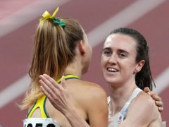 Laura Muir, right, was second in the 1500m semi-final and lines up in the final on Friday (Martin Rickett/PA)