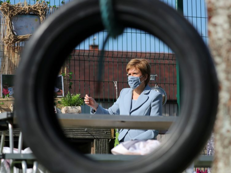 The First Minister said councils are ready to provide 1,140 hours of free childcare from the new term (Russell Cheyne/PA)