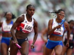 Dina Asher-Smith helped the women's 4x100m relay squad to the final. (Joe Giddens/PA)