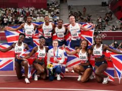 Great Britain's 4x100m relay teams and Laura Muir won half of Team GB's athletics medals (Martin Rickett/PA)