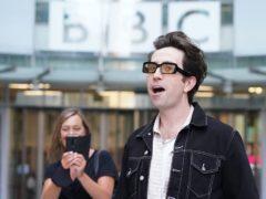 Radio presenter Nick Grimshaw leaving BBC Broadcasting House (Jonathan Brady/PA)