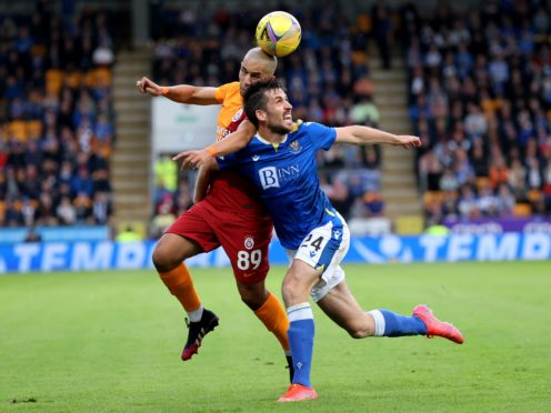 Callum Booth says St Johnstone can take some positives from their Galatasaray defeat (Steve Welsh/PA)