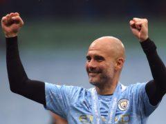 Pep Guardiola's Manchester City won the Premier League title last season (Carl Recine/PA).