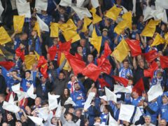St Johnstone fans during the clash with Galatasaray (Steve Welsh/PA)