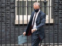 Foreign Secretary Dominic Raab in Downing Street, London (Stefan Rousseau/PA)