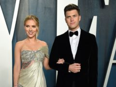Scarlett Johansson and Colin Jost (Evan Agostini/AP)