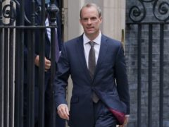 Dominic Raab leaving Downing Street (Kirsty O'Connor/PA)