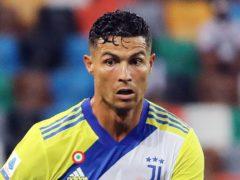 Cristiano Ronaldo in his last game for Juventus against Udinese last Sunday (Andrea Bressanutti/AP).