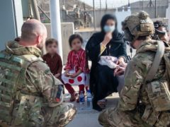 """The final stages of the evacuation effort in Afghanistan are under further strain after a warning that a """"highly lethal"""" terror attack could be launched within hours (Ministry of Defence/PA)"""